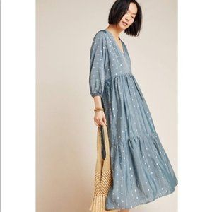NEW Anthropologie Napoli Tiered Maxi Dress